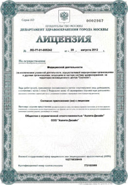 Лицензия - стрница1